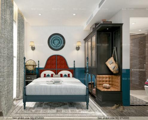 Thiết kế phòng ngủ mang hơi thở Vintage- Mid Century Morden
