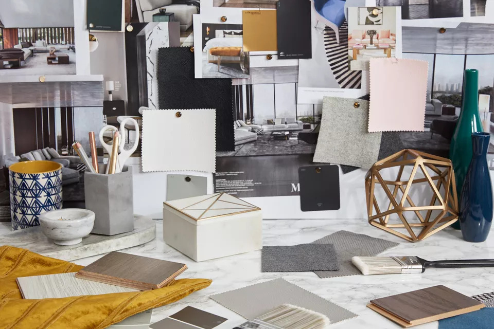 Sample board phong cách Contemporary/ Pinterest
